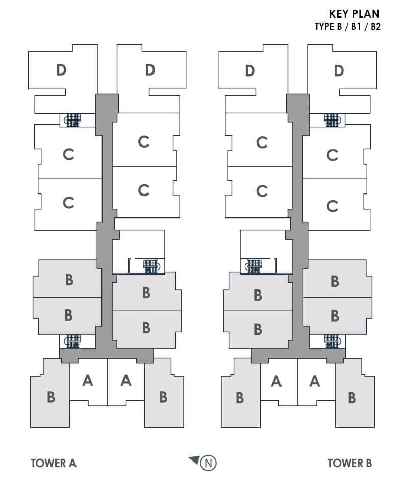 Type B Key Plan