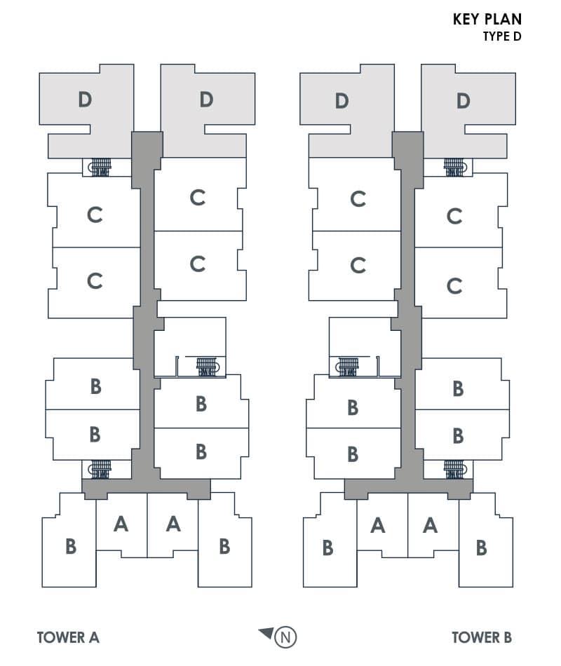Type D Key Plan