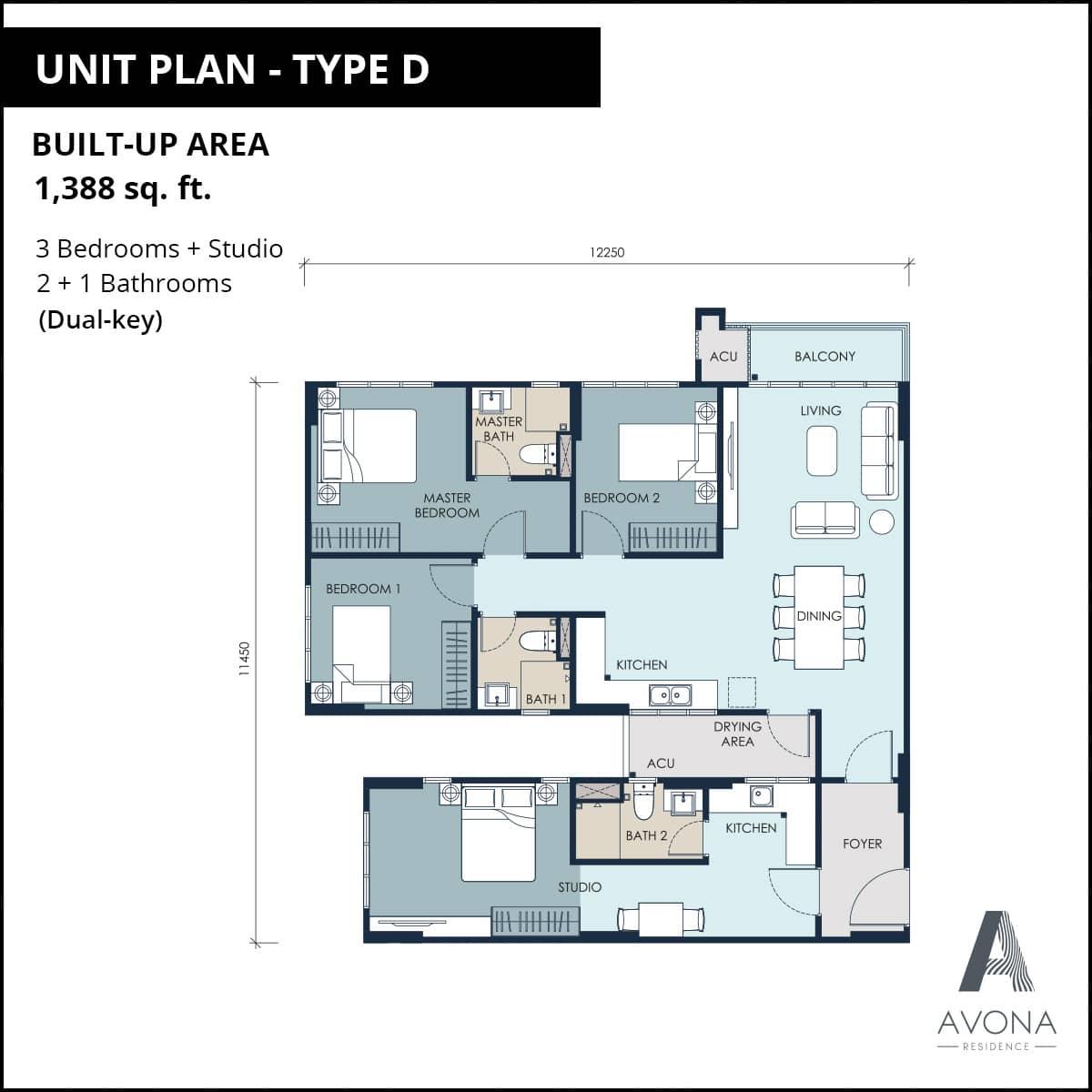 Type D Unit Plan