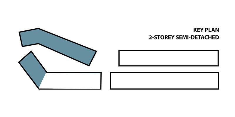 2-storey Semi-D Key Plan