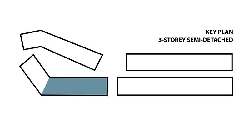 3-storey Semi-D Key Plan